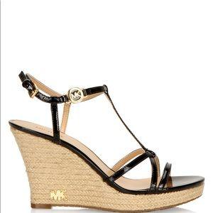 Michael Kors Kami T Strap Wedge Sandals.